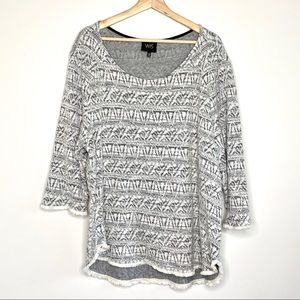 W5 Anthropologie Fringe Knit Top Sz 2X